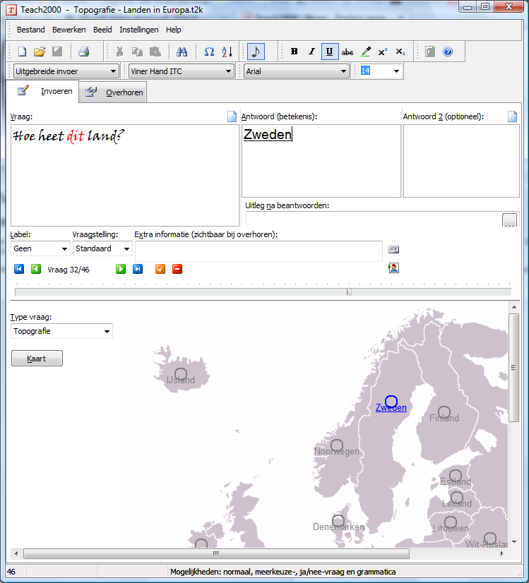 Screenshot Topografie